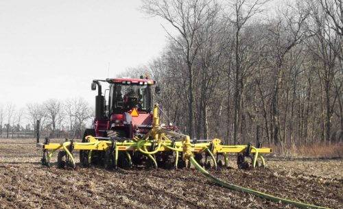 Dietrich Manure Application Toolbar in Field